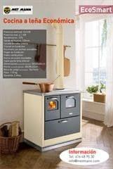 Cocina de le a econ mica 8 6 kw eco smart for Cocinas economicas pellets
