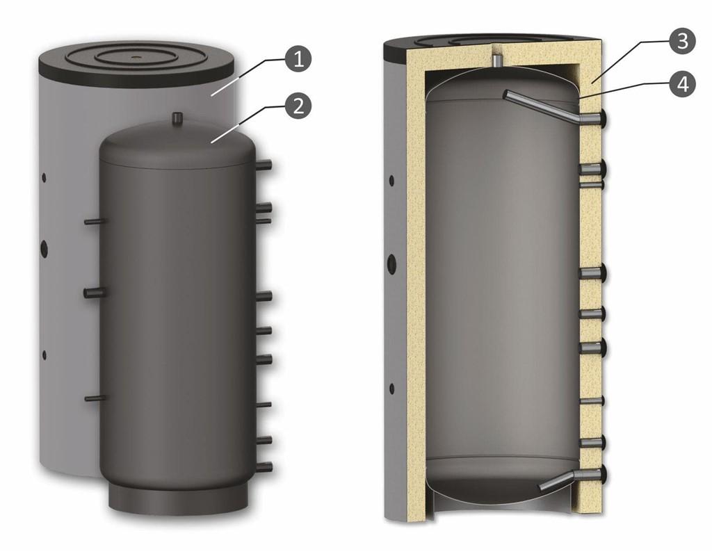 Dep sito de inercia de 1000 litros - Deposito 1000 litros ...